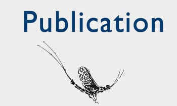 Publication title with image of a mayfly