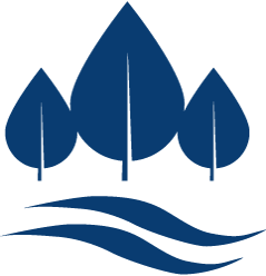 Streamside forest icon