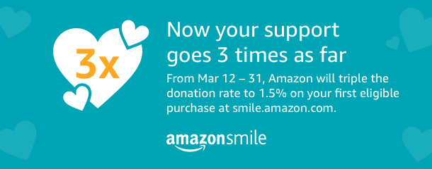 Triple Your Donation with AmazonSmile